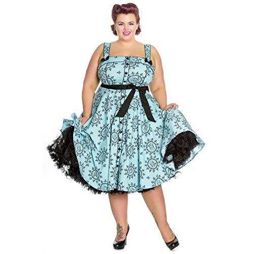 a01b0cfe266 Hell Bunny Sailor Girl Blue Nautical 1950s Vintage Retro Rockabilly Pinup  Dress 8 XS  Amazon.co.uk  Clothing