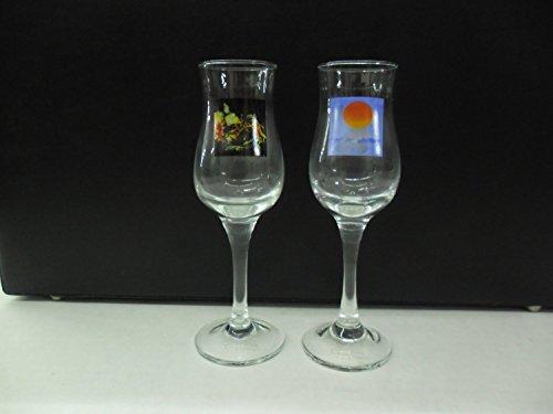 Set of 2 Casa Noble Premium Tequila Santana III & Caravanserai Stemmed Tasting Shot Glasses