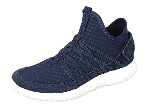 Forever Link Womens Lightweight Breathable Elastic Strappy Fashion Sneaker Navy D0shEGg9