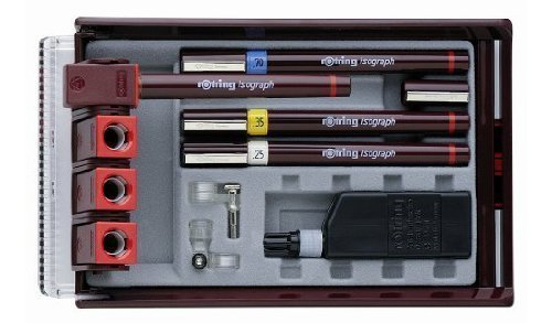 rOtring Isograph Technical Drawing Pens, Set, 4-Pen Set (.20-.50 mm) by Rotring by Rotring