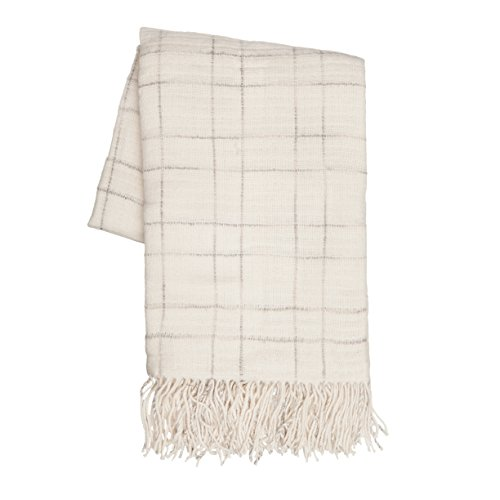 Sova by SLPR Extra Soft Check Throw Blanket with Fringed Edg