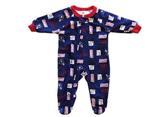 Gerber Childrenswear NFL New York Giants Boys 2018Blanket Sleeper, Blue, 6 Months ()