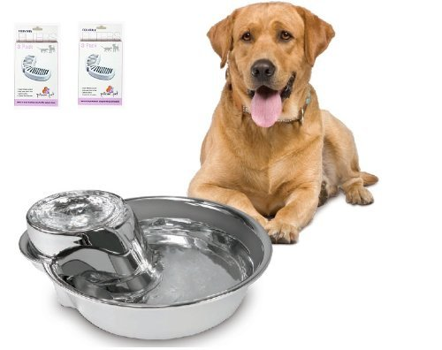 Pioneer Pet SmartCat Stainless Big Max Pet Fountain 128 OZ With 7 Filters