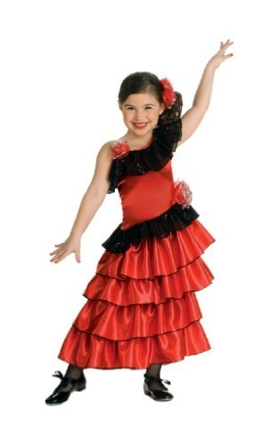 Rubie's Spanish Princess Child Costume Red/Black