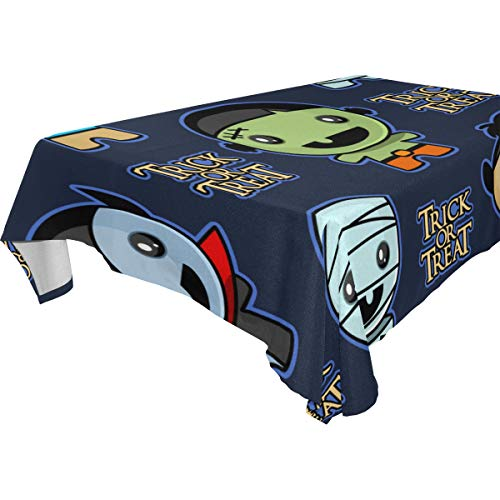 ZOMOY Decor Tablecloth Seamless Trick Treat Background Cute