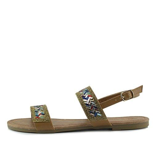 Kick Donna Estivi Sandali Da Molto Footwear Caffè Comodi rqIrwHPRF
