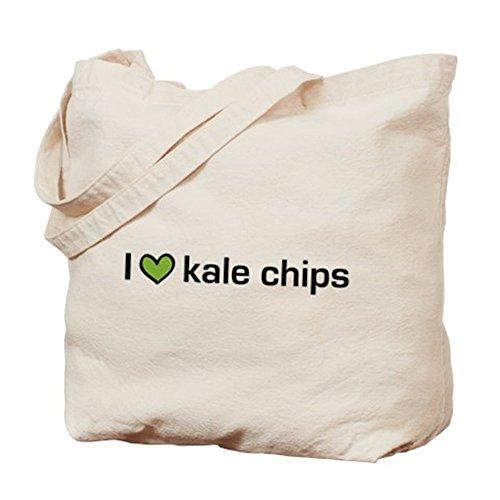 CafePress–I HEART Kale Chips–Borsa di tela naturale, panno borsa per la spesa