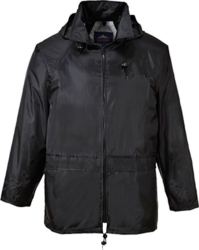 Portwest Mens Classic Rain Jacket (S440) (XL) (Black) from Portwest