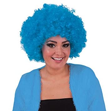 Peluca hippie azul