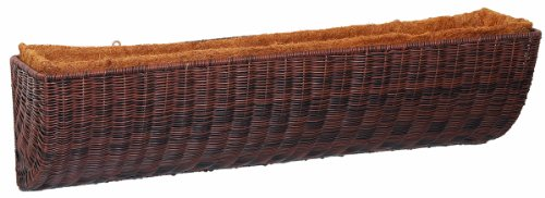 DMC Products 30-Inch Resin Wicker Wall Basket, Antique (Dmc Products Natural Planter)