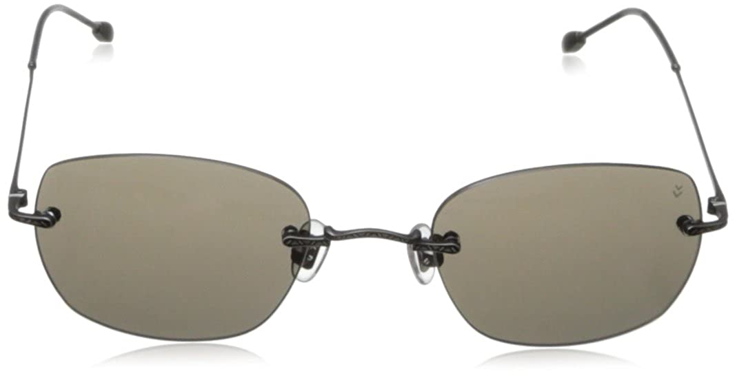 John Varvatos Mens V793 Round Polarized Sunglasses