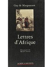 Lettres d'Afrique : Algérie, Tunisie