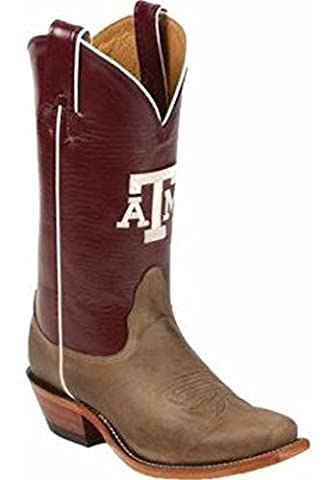 Nocona Womens LDATM22 Texas A and M University Collegiate Embroidered Boots-Tan 11.0 B (University Of Texas Boots)
