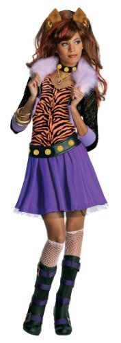 Monster High Clawdeen Wolf Costume - One Color - Small (Teenage Girl Werewolf Costumes)