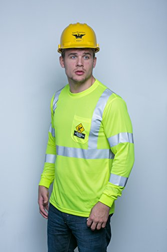Brite Safety Style 210 Hi Vis Shirt - Long-Sleeve Safety Shirts with Pockets - 3M Scotchlite Reflective Tape - ANSI… 2