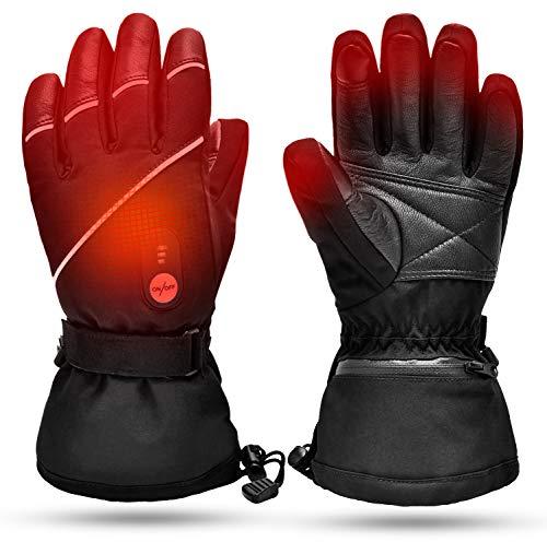 SNOW DEER Verwarmde handschoenen, oplaadbare lithium-ionen-batterij, voor heren en dames, voor skiën, jagen, vissen…