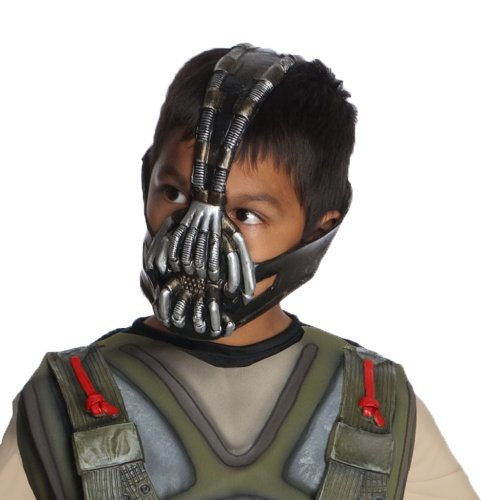 Batman: The Dark Knight Rises: Bane 3/4 Mask, Child Size (Black) -