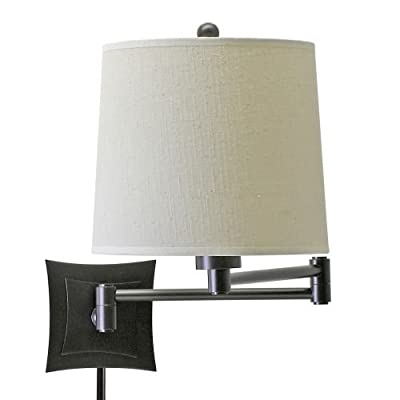 House of Troy 14-Inch Swing-Arm Squared Wall Lamp