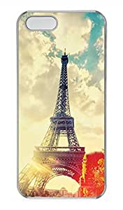 iPhone 5 5S Case Paris Eiffel Tower 02 Cover Skin For iPhone 5/5S Cases Transparent