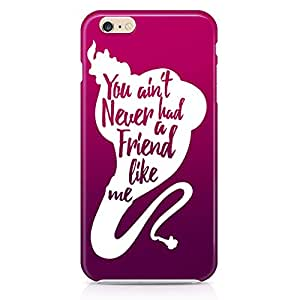Loud Universe Friendship Gift Quote Aladdin Genie iPhone 6 Plus Case Aladdin Classic Cartoon Network iPhone 6 Plus Cover with 3d Wrap around Edges