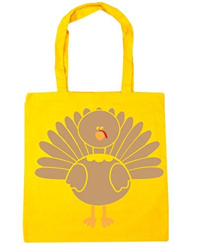 HippoWarehouse Turquía bolsa de la compra bolsa de playa 42cm x38cm, 10litros amarillo