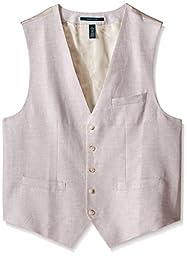 Perry Ellis Men\'s Big-Tall Suit Vest, Natural Linen, X-Large/Tall