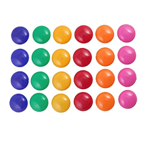 Witkey 24 Pcs Assorted Color 30mm Round Presentation Whiteboard Magnet Button