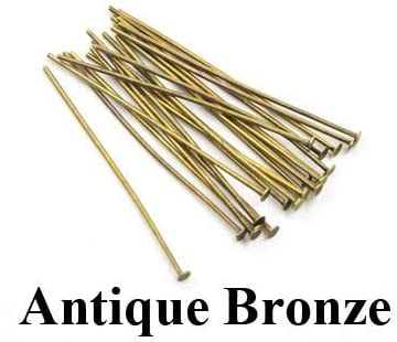 Color: Gold, Size: 45mm Laliva Accessories 200pc//lot 20 30 40 45 50mm Metal Flat Head Pins Needles Bronze Rhodium Gold Silver DIY Jewelry Findings Making Accessories Y702