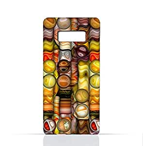 Samsung Galaxy Note 8 TPU Silicone Case With Abstract Bubble Background