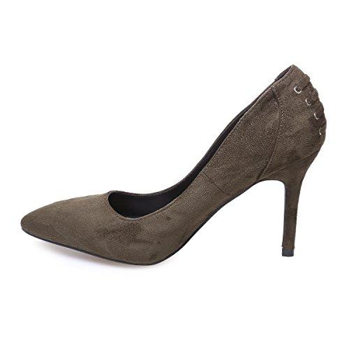 La Modeuse - Zapatos de Vestir de Material Sintético Mujer Verde