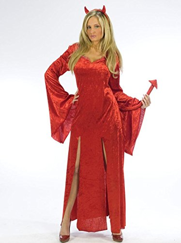 Adult Sultry Witch Costumes (Sultry Devil Adult Costume - Small/Medium)