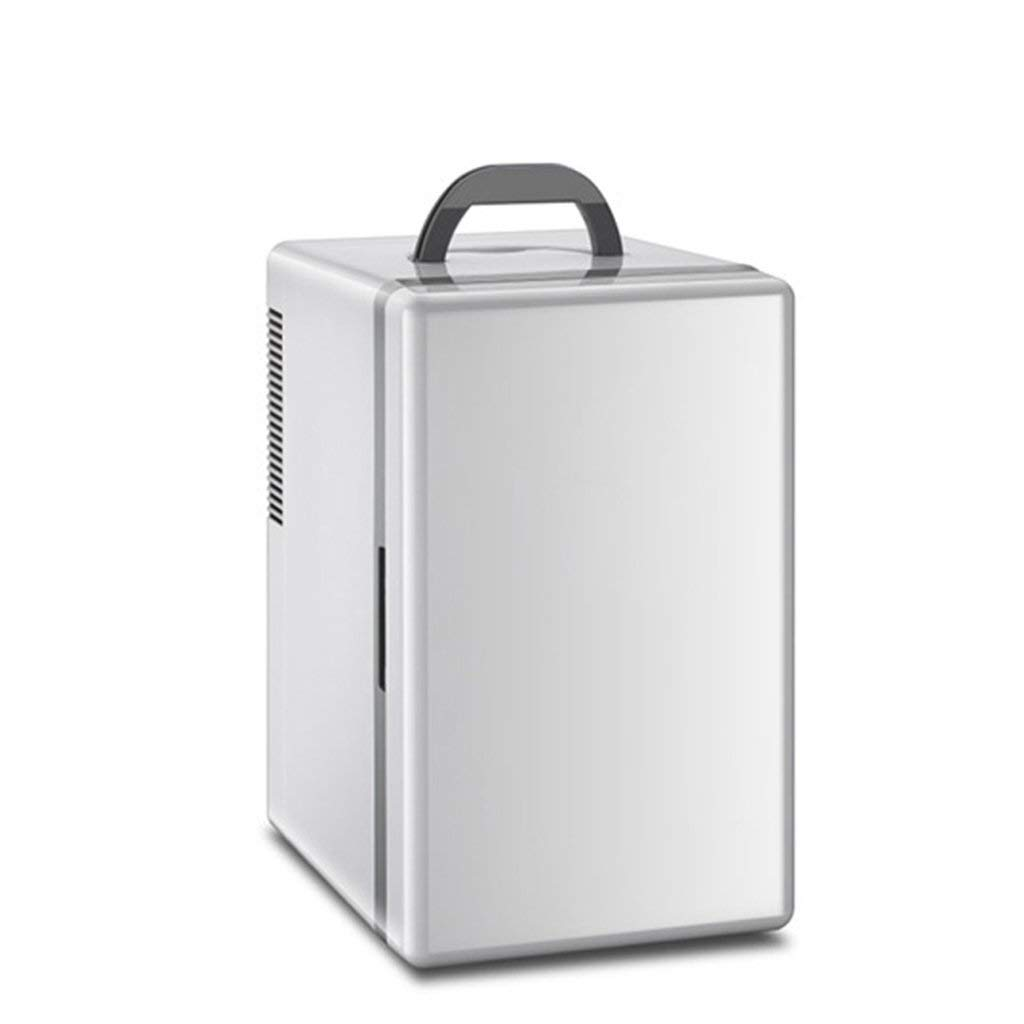 WSJTT 16L Car Refrigerator Mini Fridge Home Student Dormitory Freezer Glass Door Bottle&Drinks Cooler,[Energy Class A+]portable thermoelectric cooler Quiet Running Table Top Mini Bar