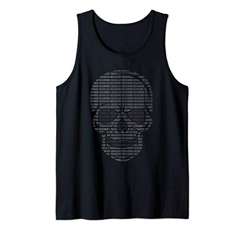 Bit Binary Code. Evil Or Hacker Skull For Coder Tank Top (Top 10 Computer Hackers In The World)