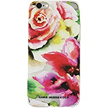 Gina Alexander iPhone 6 Plus Transparent Case (Watercolor Flowers)