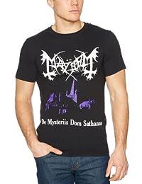 Mayhem Mens T Shirt Black De Mysteriis Dom Sathanas Dark Night Church Official