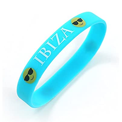 Komonee Ibiza Blue Holiday Silicone Wristbands Pack 10 Estimated Price £6.99 -