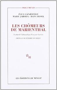 Les chômeurs de Marienthal par Paul Felix Lazarsfeld