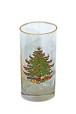 Cuthbertson Original Christmas Tree 12 Oz Highball, Set of 4