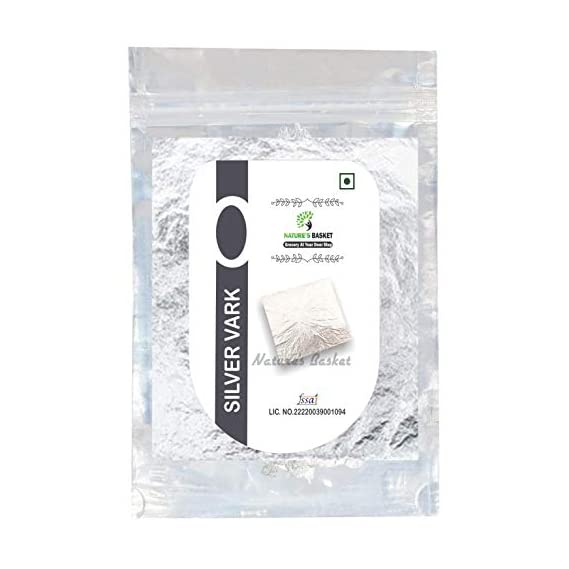 Nature's Basket Silver Leave Edible for Sweets - 15 Leaves Chandi Vark (Pack of 15 Leaves)