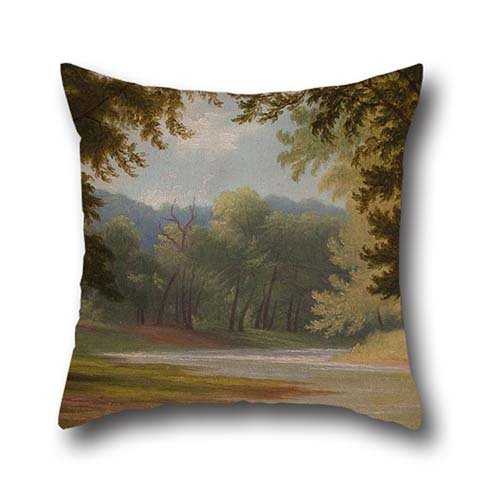 Deck Yel (Oil Painting Godfrey Frankenstein - The Mill Creek Throw Pillow Covers 16 X 16 Inches / 40 By 40 Cm Best Choice For Outdoor,deck Chair,pub,office,seat,teens Boys With Each Side)