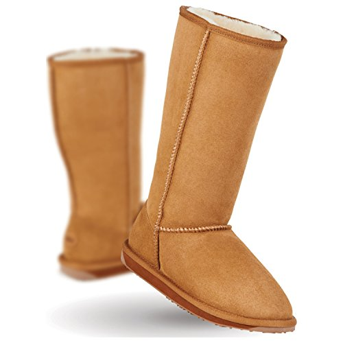 EMU Australia Women's Stinger Hi Water Resistant Boot,Chestnut,9 M US (Emus Boots)