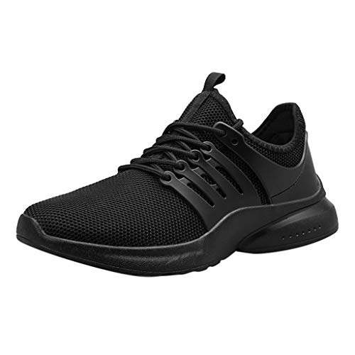 Sneakers for Men,Sunyastor Men's Fashion Breathable Non Slip Sport Athletic Shoes Casual Walking Running Shoes Sneakers Black