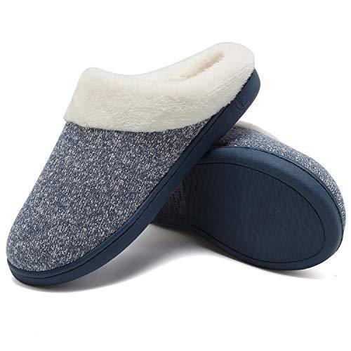 Anti Mémoire Chaud Femmes Welltree Comme Bleu Chaussures Coton slip Chaussons Dames 1 Intérieur Pantoufles Souple Tricoté Maison Mousse Laine Peluche D'hiver wZXqz1X