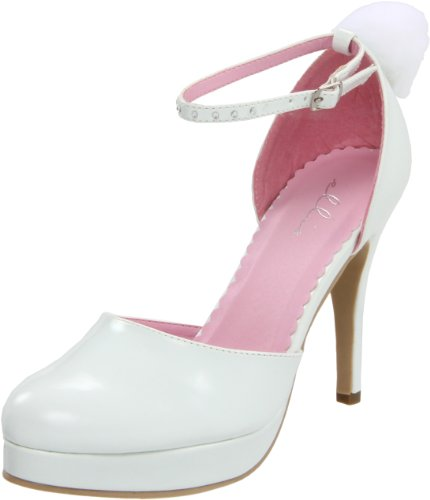 Ellie Shoes Womens 420-Cottontail Pump White RGF1Fne