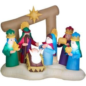 Airblown 6 ft Nativity Home Accents Holiday -