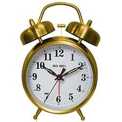 Bigben Westclox Big Ben Twin Bell Alarm Clock 70010G, ea, Gold