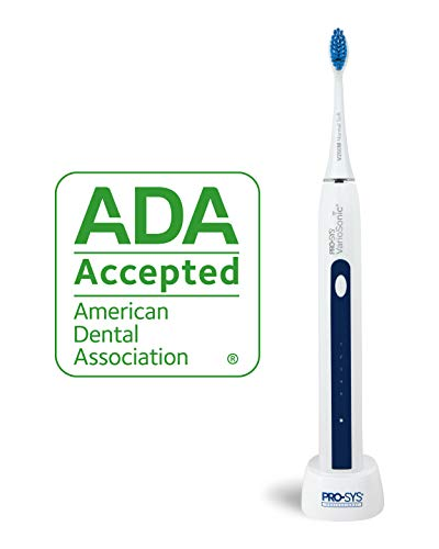 - PRO-SYS VarioSonic Electric Toothbrush with 25 Customizable Cleaning Options - 5 Replacement DuPont Bristle Brush Head Types, 5 Brushing Speeds with Electronic Rechargeable Battery Charging Dock