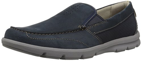 Clarks Men's Jarwin Race Shoe, navy nubuck, 10.5 Medium US