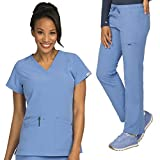 Med Couture Air Sky High V-Neck Top & Cloud 9 Drawstring Pant Scrub Set