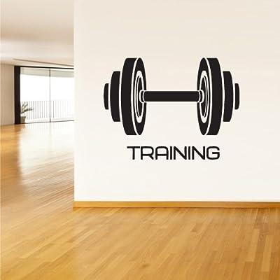 Wall Vinyl Sticker Decals Decor Art Bedroom Design Mural Dumbbell Sport Bodybuilding Gym Workout (Z1857)